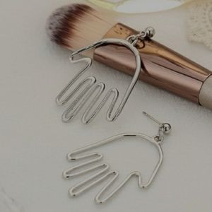 NEW color silver hand earrings